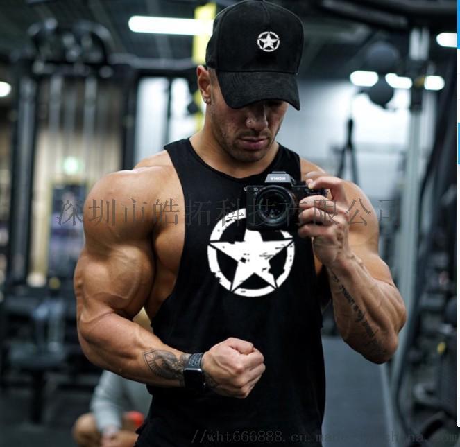 背心健美服装健身房小圆领运动训练深挖肌肉棉背心861232362