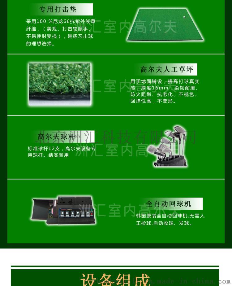 室内高尔夫模拟器球场家用投影系统135531155