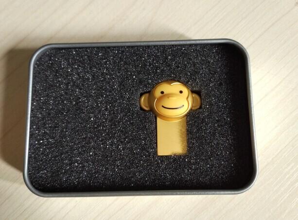 新款金色迷你防水U盘定制小猴U盘16g23083045