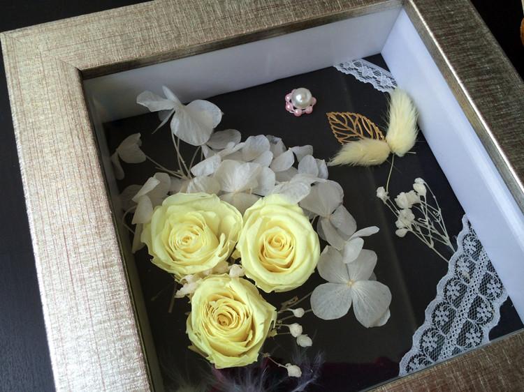 永生花相框批发 立体加厚画框 内立体空间 礼品框 放仿真植花物框24747555