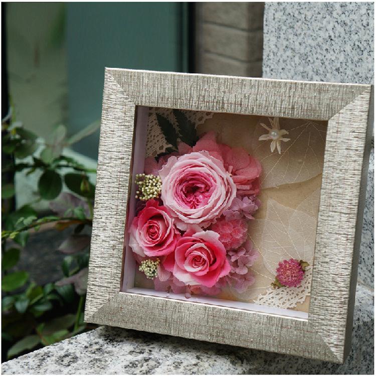 永生花相框批发 立体加厚画框 内立体空间 礼品框 放仿真植花物框24747545