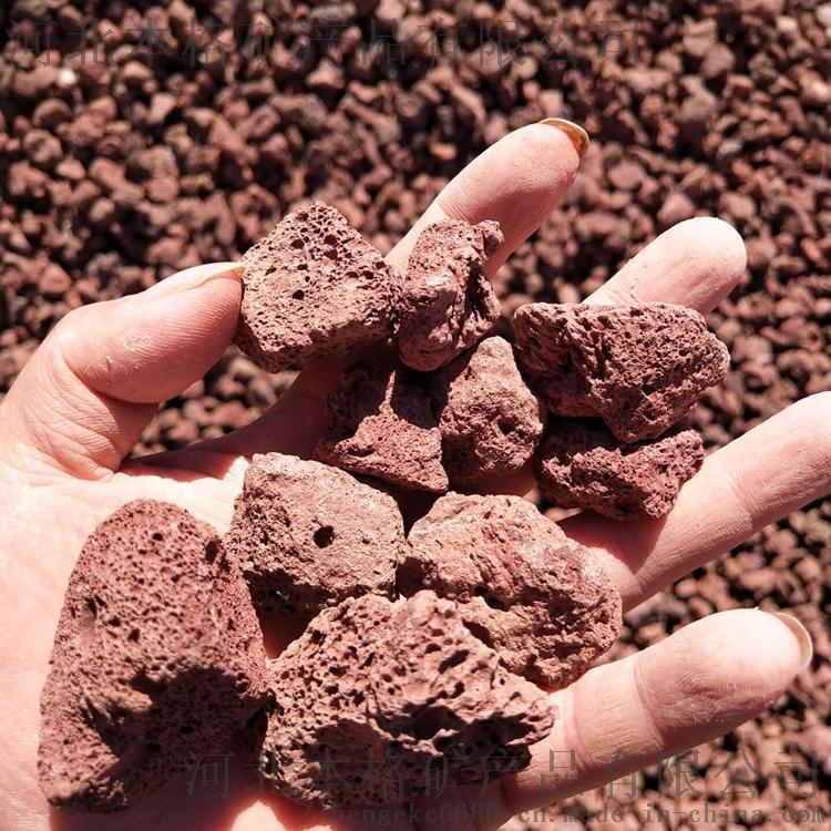 河北本格5-8cm火山石 红色火山岩808213905