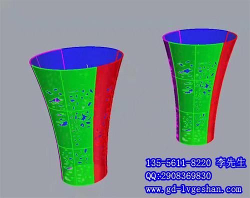 圆形包柱铝单板镂空 铝板包柱造型 包柱铝单板厂家.jpg
