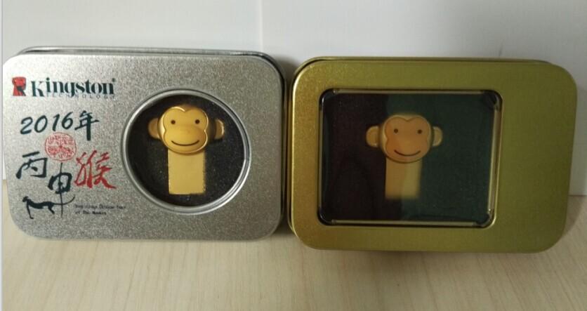 新款金色迷你防水U盘定制小猴U盘16g23083645