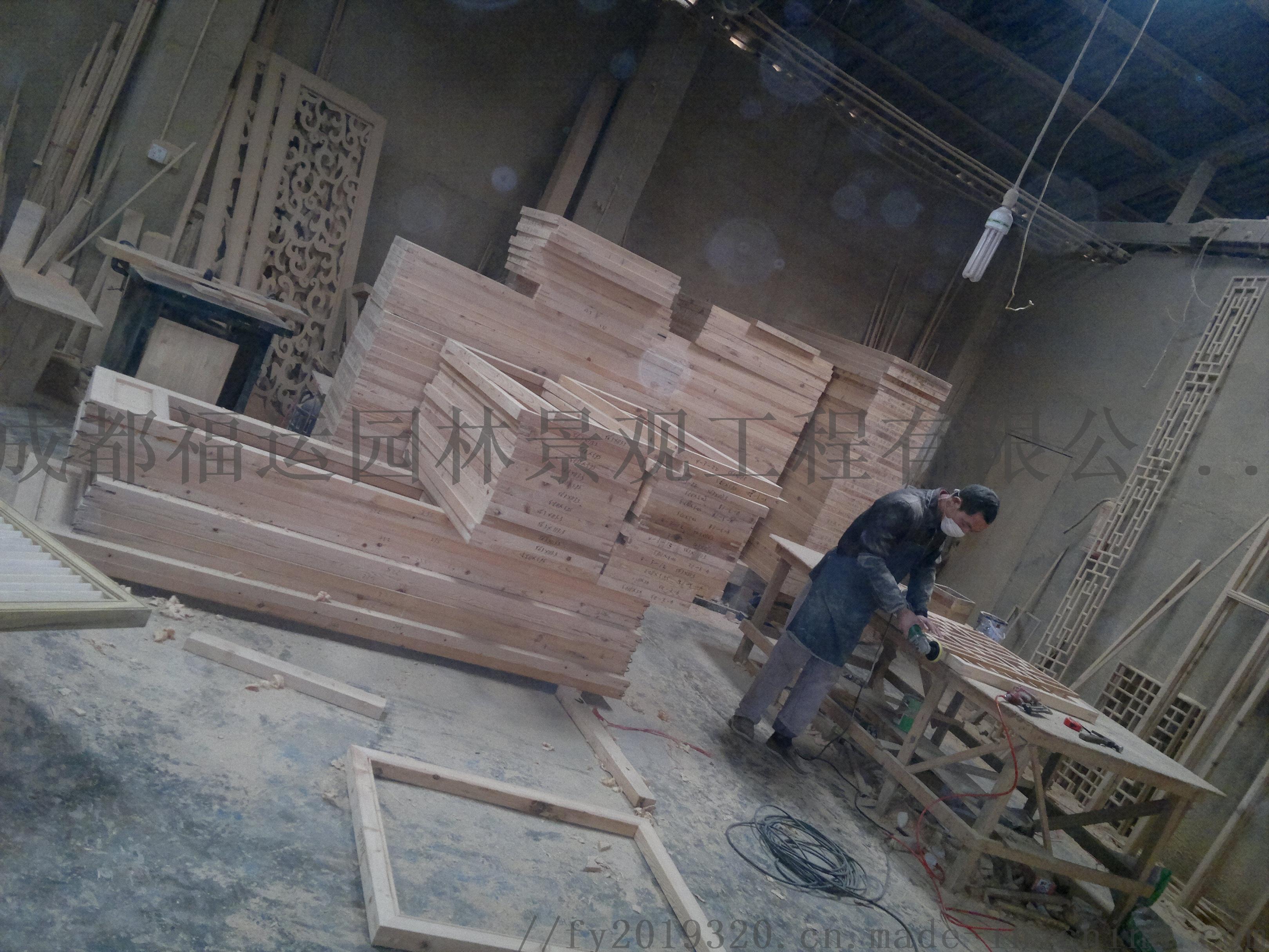 四川仿古门窗博古架厂家实木雕花挂件茶楼装修876502315