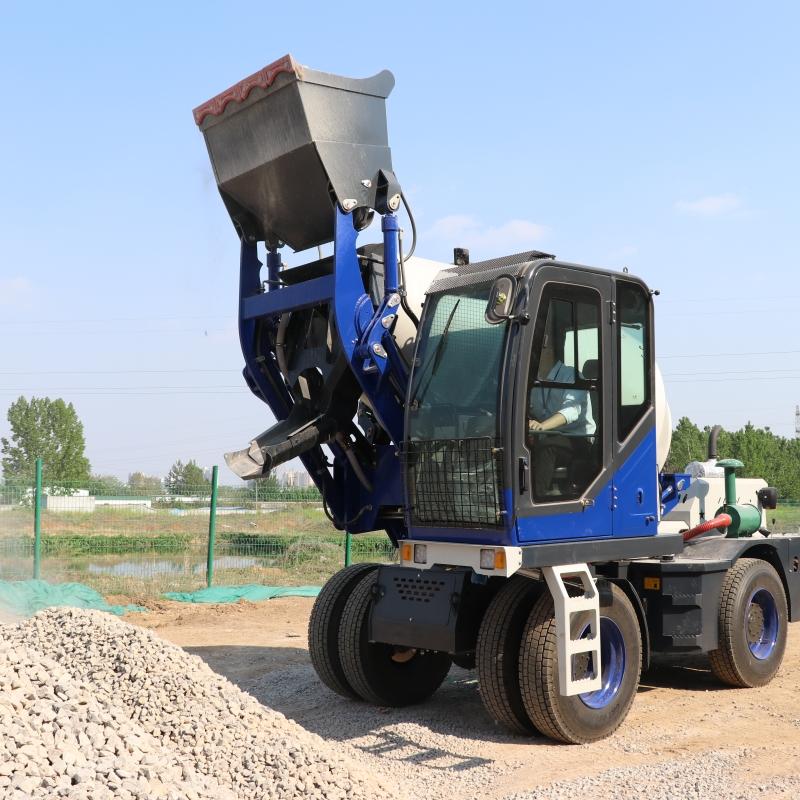 自动上料混凝土搅拌车 3.5方全自动搅拌运输车