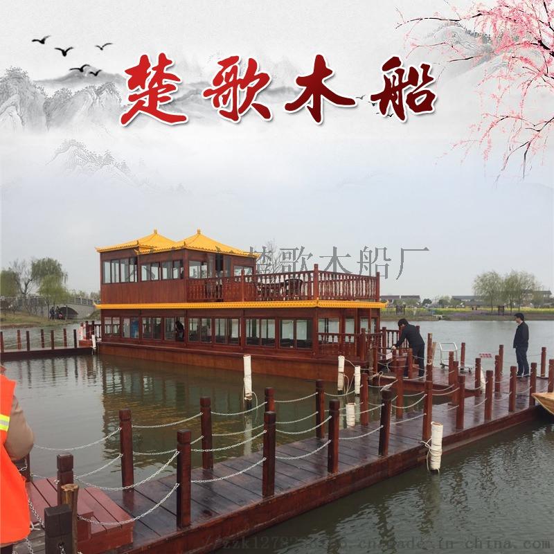 济宁木船厂家生产旅游景区餐饮船游船哪里有