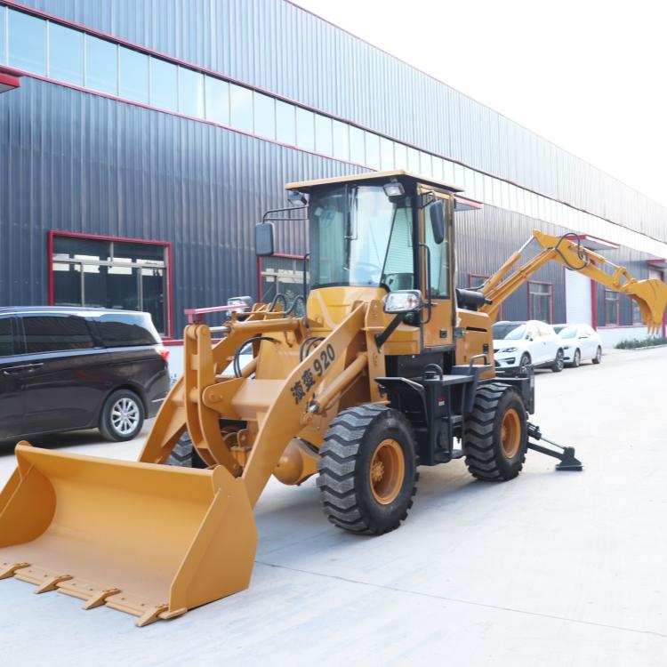 轮式多功能铲挖一体机 两头忙装载机厂家