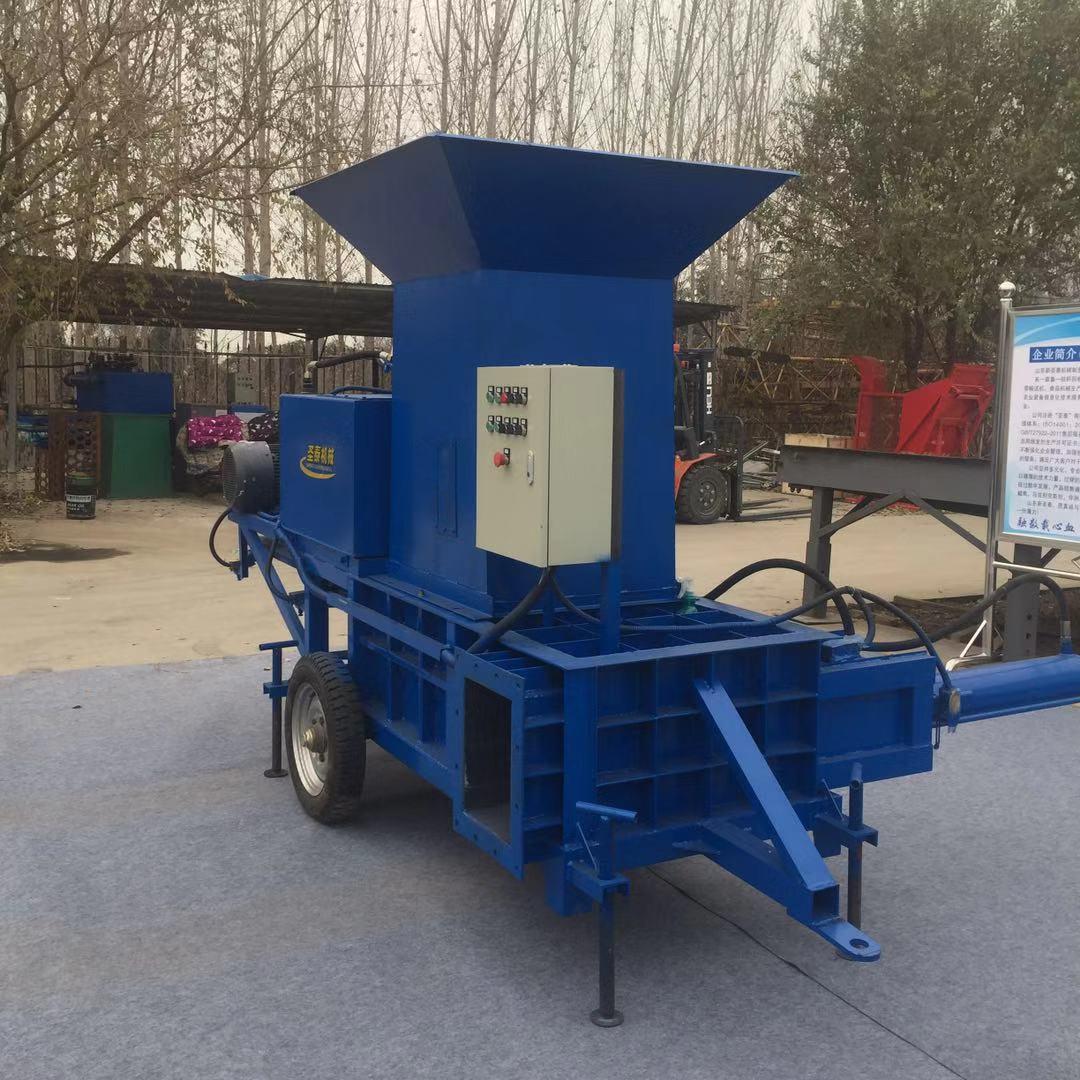 江苏常州青储饲料自动压块打包机 大型秸秆压块机价格