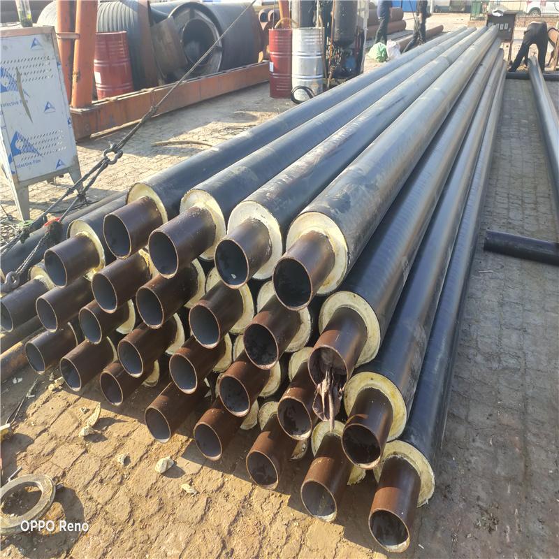 直埋式聚氨酯保温管 DN50/60聚氨酯钢塑复合保温管温州