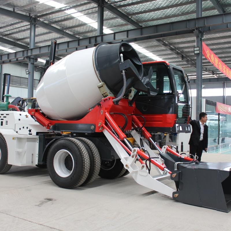 1-6立方自动上料砂浆搅拌车运输车厂家