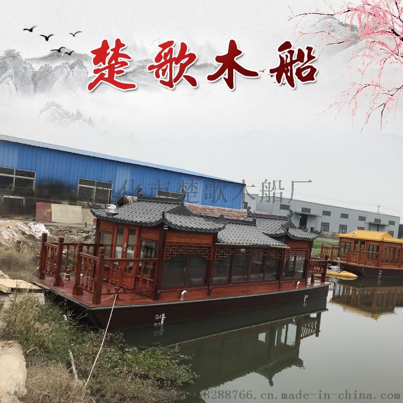 文山木船厂家生产画舫船传统画舫船木船设计