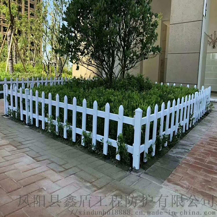 湖南娄底绿化栏杆围栏 pvc草坪护栏图片大全