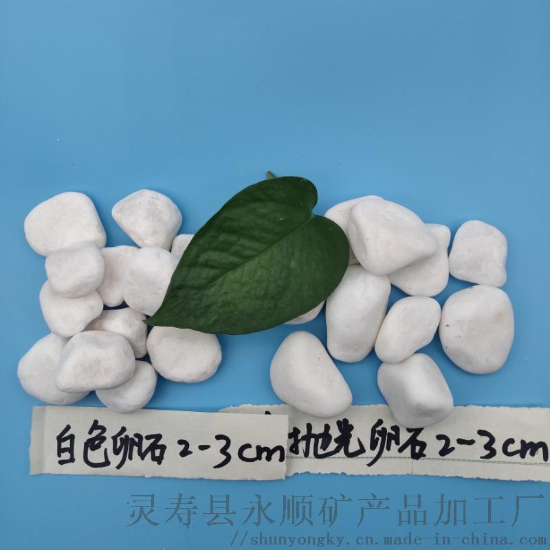 山西抛光白卵石   永顺白卵石2-3厘米促销