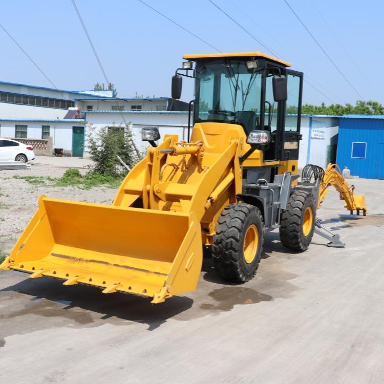 小型挖掘装载机 20轮胎式前铲后挖铲车 四驱两头忙