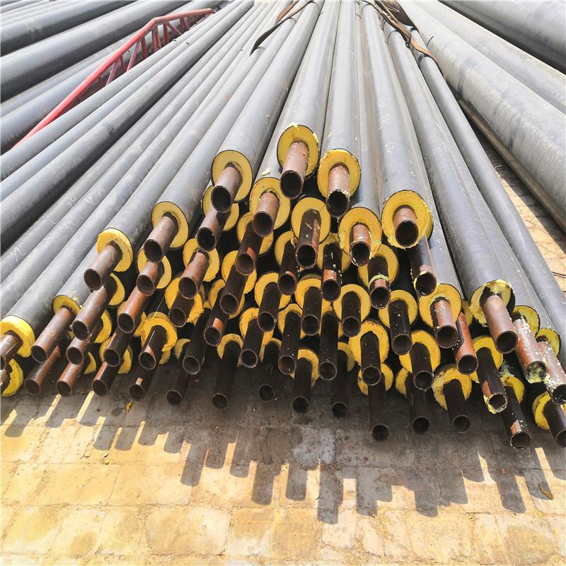 迪庆聚氨酯预制直埋保温管DN50/60聚氨酯夹克管