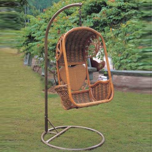 户外休闲藤制吊篮椅