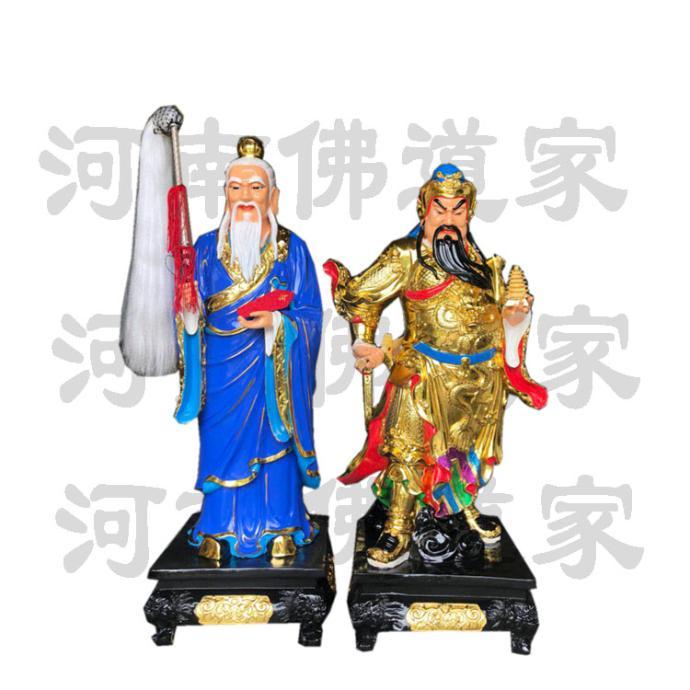 托塔李  铜雕彩绘 二郎神雕塑868596152