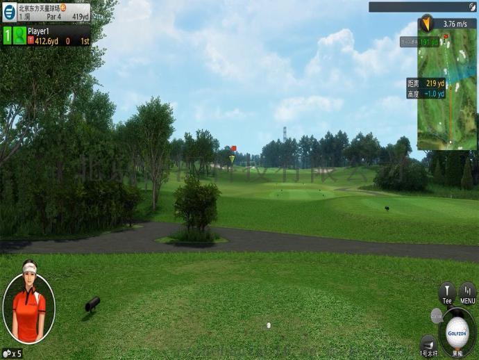 室内高尔夫模拟器球场家用投影系统902385935