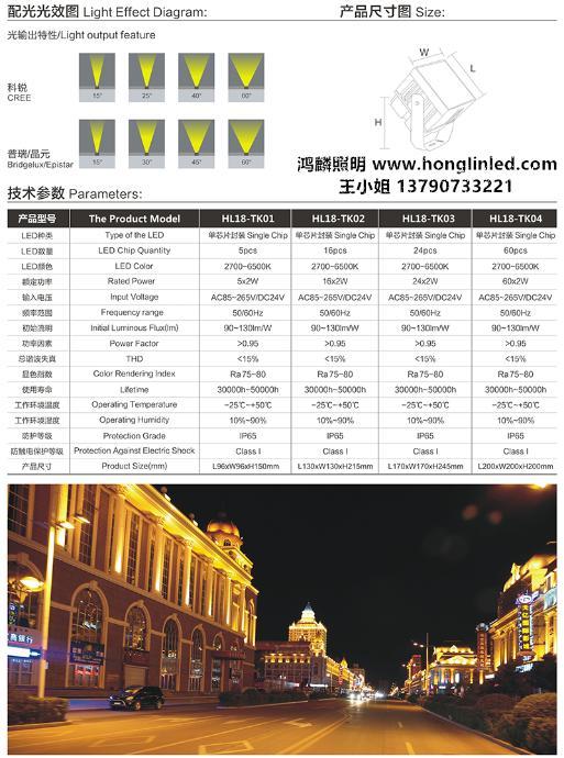 24w48W方形LED投光灯景观投光灯107512525