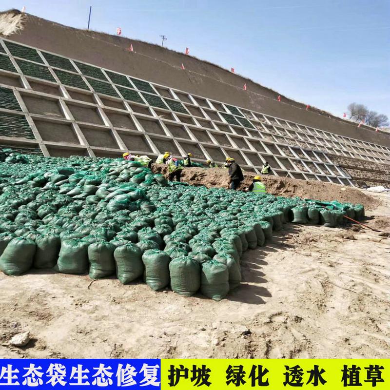 公路边坡绿化袋,浙江扁丝编织土工布袋