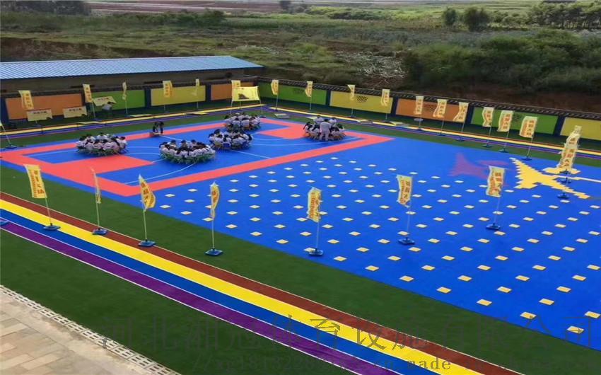 池州市气垫悬浮地板篮球场塑胶地板拼装地板
