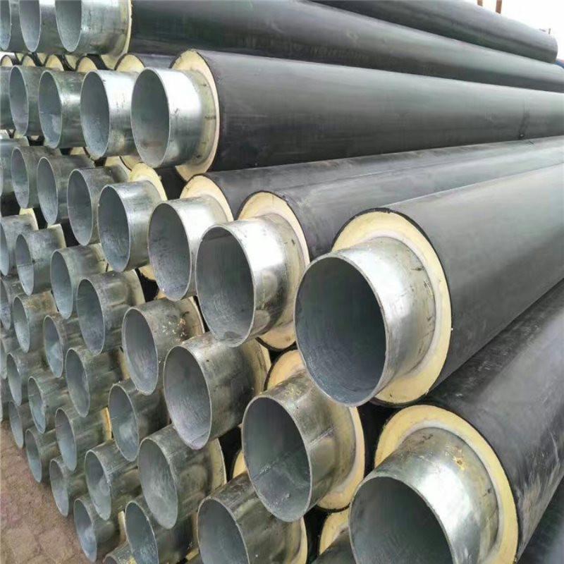 崇左 鑫龙日升 聚氨酯复合保温管DN400/426国标密度发泡聚氨酯保温管优质PE外护管