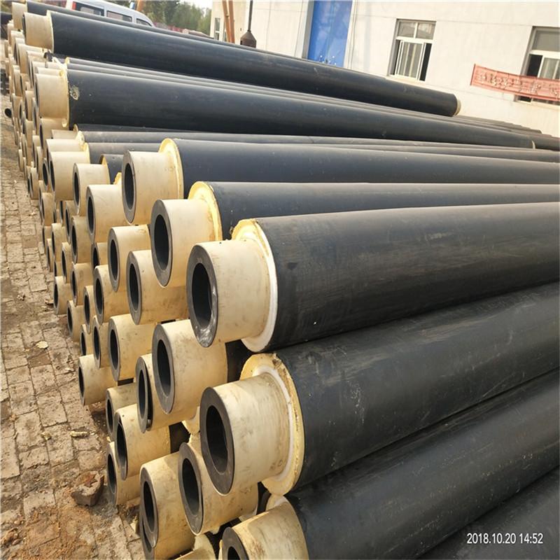 渭南 鑫龙日升 聚乙烯黑夹克聚氨酯保温管DN125/133黑夹克保温钢管