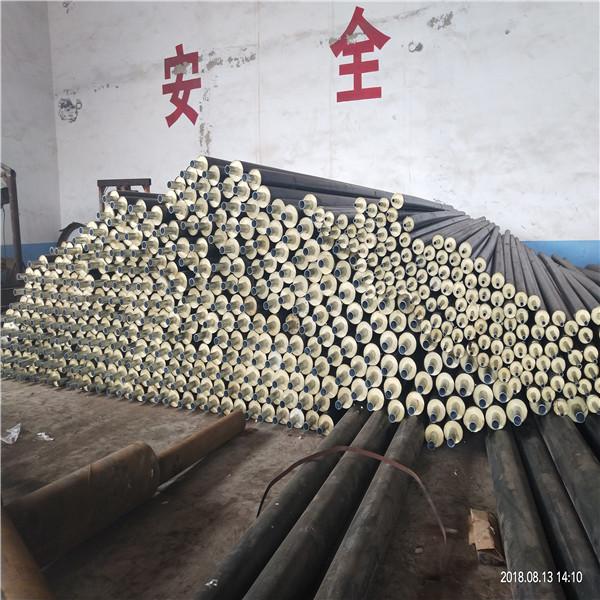 乌兰察布鑫金龙高密度聚乙烯黄夹克保温管 DN450/478聚氨酯温泉保温管