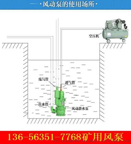 湖南益陽市浮杆式礦用風泵礦用風動潛水泵的價格煤礦專用
