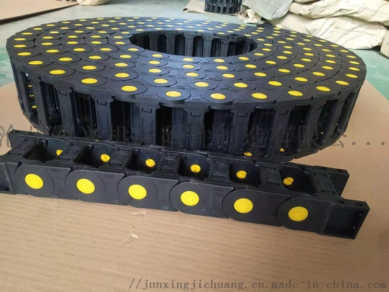 管材切割机使用全封闭拖链 耐磨噪音低 塑料尼龙拖链815069842