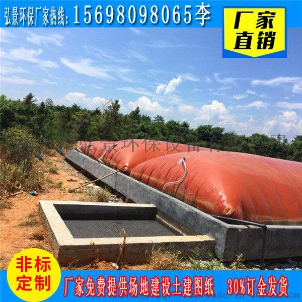 沼气池设计图纸-1000立方红泥发酵池浮罩建设厂家816746782