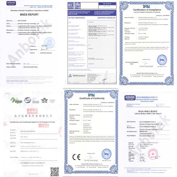 华瑞隆104058-2900mah聚合物锂电池65010282