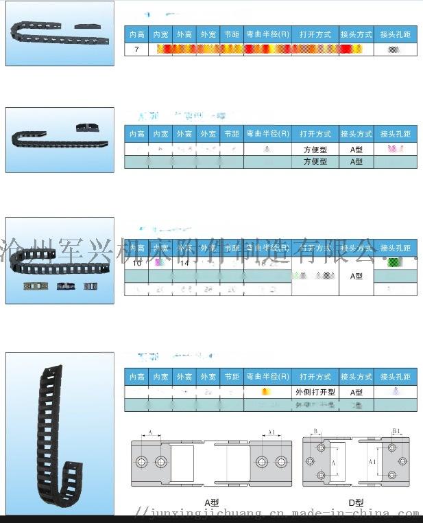 加工中心用塑料拖鏈 鋼鋁拖鏈 高溫環境用的穿線拖鏈100575682