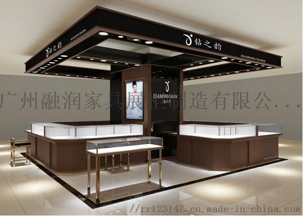 广州融润家具定做钛合金珠宝首饰展示柜制作设计厂家823120475