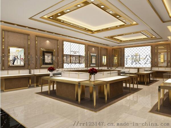 廣州融潤傢俱時尚商場不鏽鋼珠寶展示櫃製作設計823748325