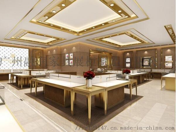 廣州融潤傢俱時尚商場不鏽鋼珠寶展示櫃製作設計823748345