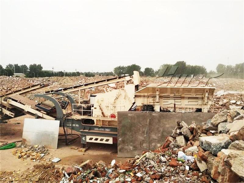 沙料場岩石破碎機廠家 碎石機 建築垃圾處理生產線94851812