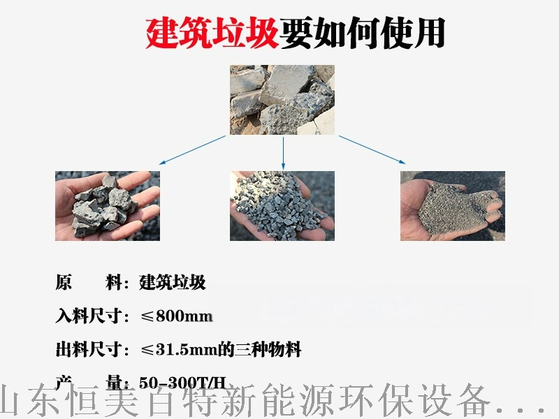轮胎式建筑垃圾处理设备,玄武岩破碎机生产线配置103733612