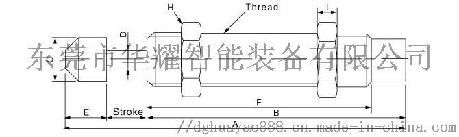气缸液压阻尼器AC1007-S忠科移印机用缓冲器105000252