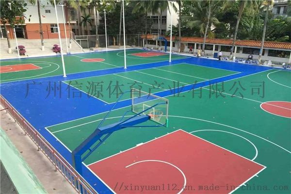 广州新国标硅PU塑胶篮球场施工建设材料生产厂家105629615