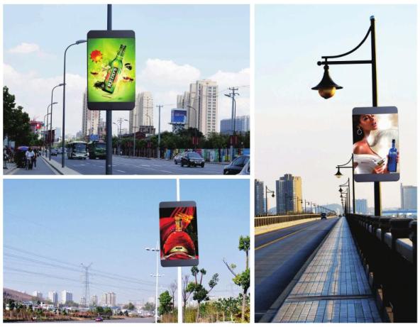 深圳泰美P5户外高清智能led灯杆屏无线控制灯杆广告显示屏20986452