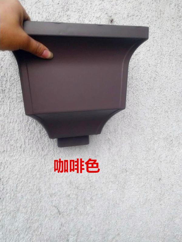 石家庄别墅方形铝合金落水管彩铝天沟水槽779520152