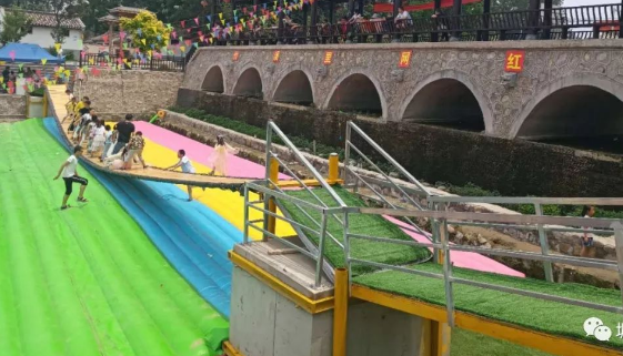 河北邯郸网红桥充气气垫彩色款式厂家定做107899152