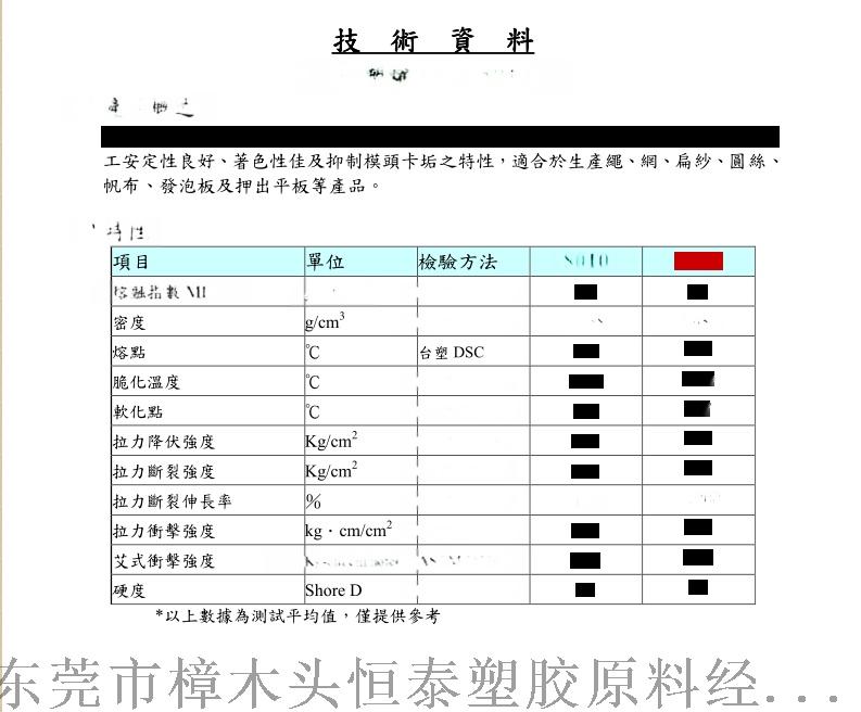 HDPE 台湾台塑 8010 注塑级物性.png
