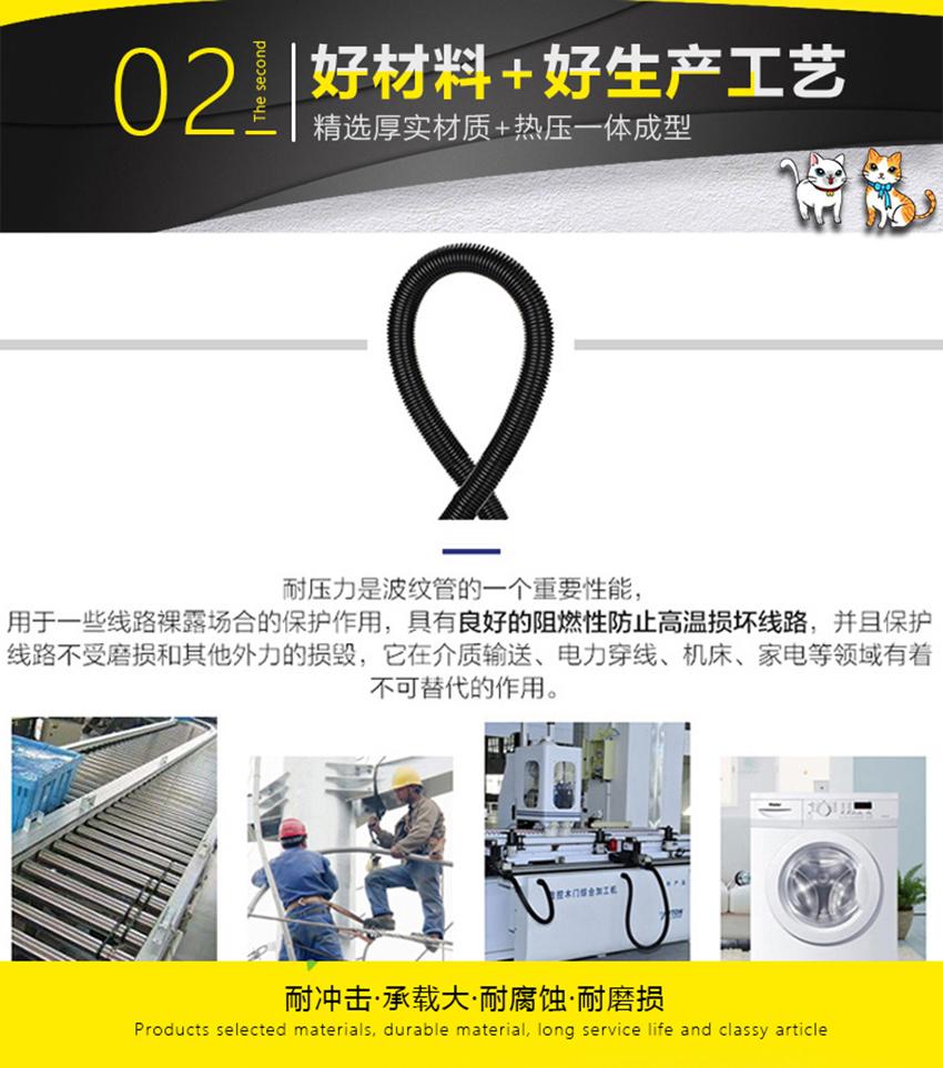 汽車線束用軟管PP阻燃軟管塑料軟管103399965