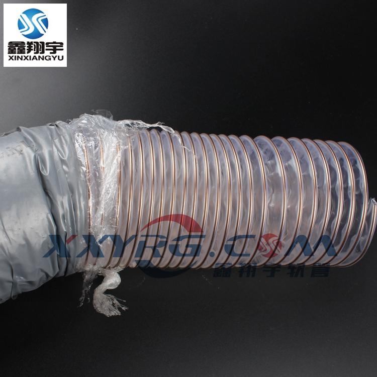 耐磨木工雕刻机pu钢丝伸缩通风吸尘软管103629615