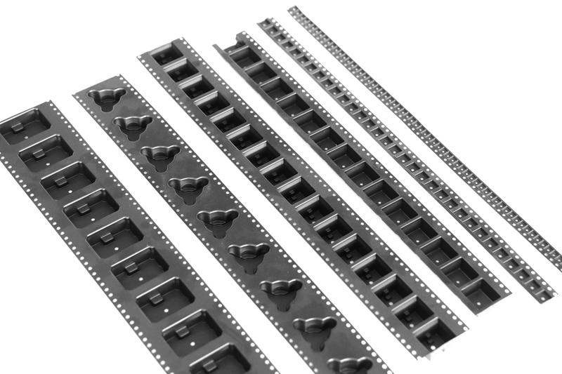 8mmSMD元器件塑胶载带 佛山高透黑色塑胶载带116310215