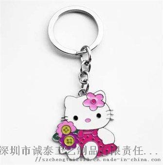 动漫卡通珐琅钥匙扣, Q版兔子金属礼品锁匙扣862891565
