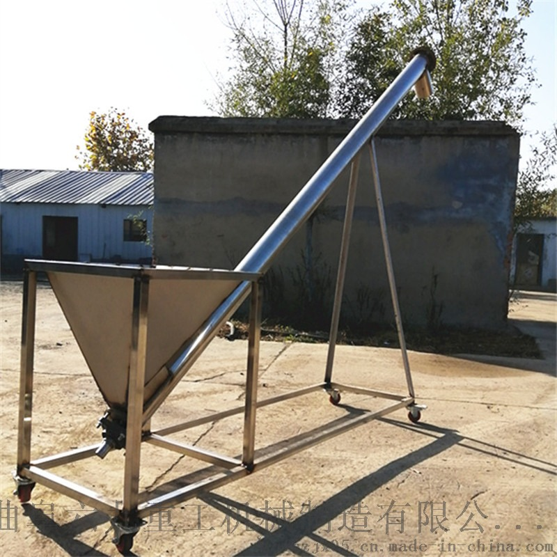 可倾斜角度上料用不锈钢螺旋提升机 质优价廉Lj8117873702